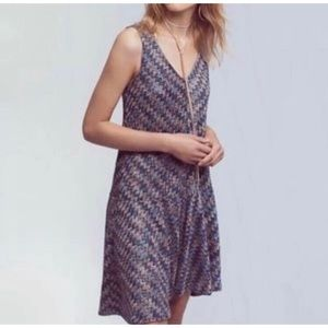 Anthropologie Mauve Westfield Boho Knit Dress XS